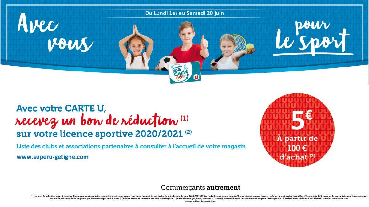 """SUPER U GETIGNE """"Avec Vous pour le sport"""""""